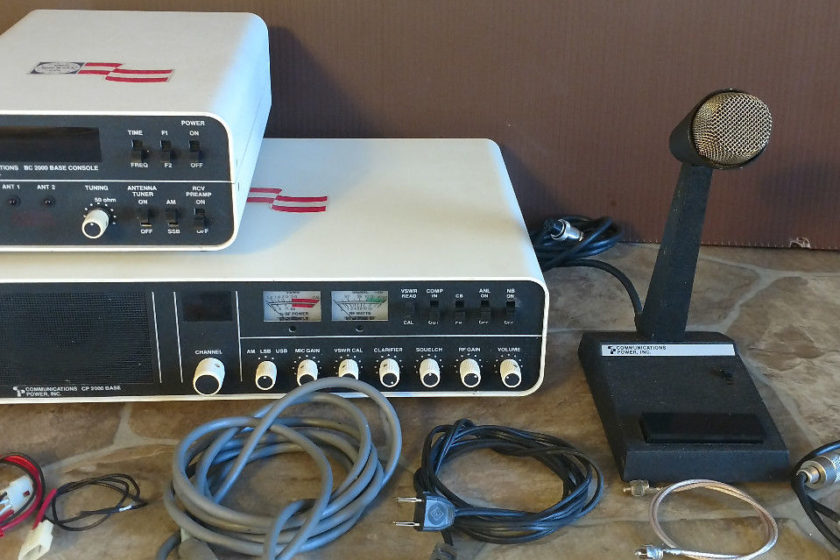 CP 2000 Base & Base Console with Mic All Working Original Boxes