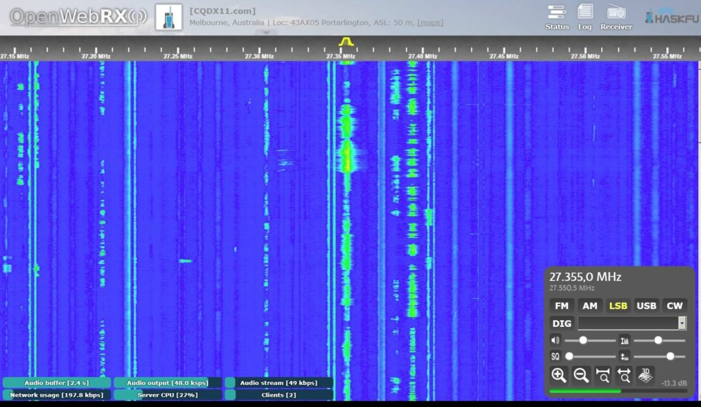 CQDX11.com SDR Waterfall