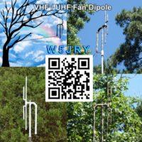 VHF / UHF fan dipole