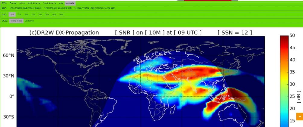 11m Propagation Map Realtime